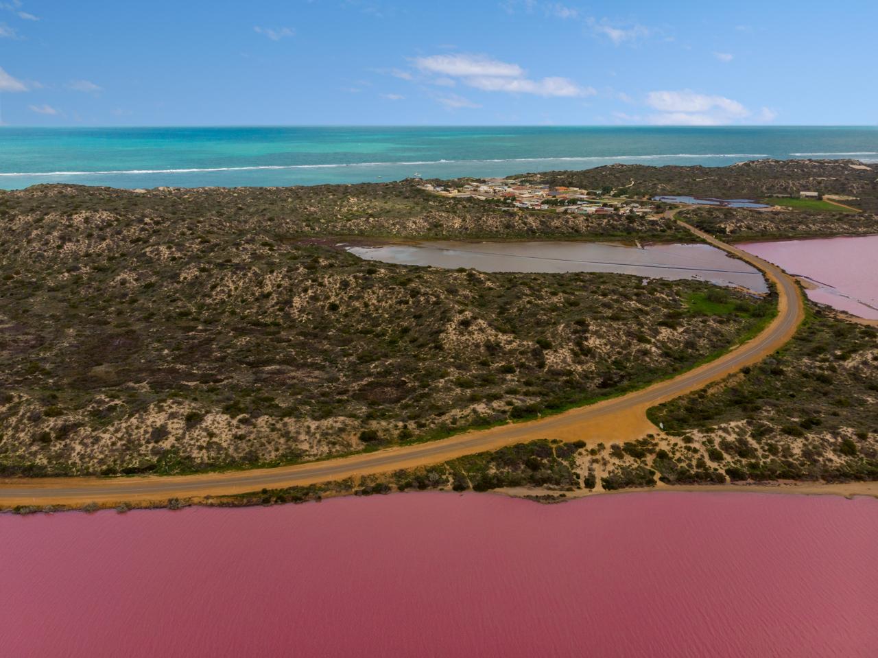 Hutt Lagoon (Pink Lake) near Port Gregory